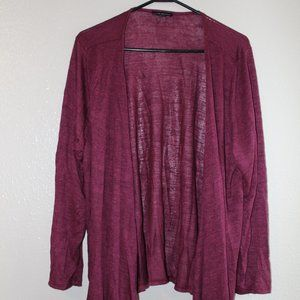 Lane Bryant Light Weight Wine Colored Cardigan